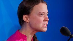 Thunberg es constantemente víctima de agresiones publicitarias.
