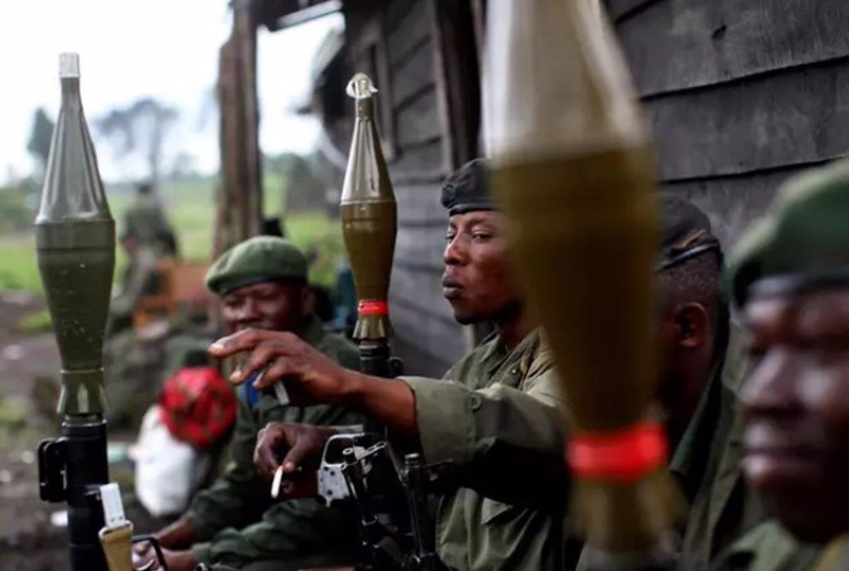 Militares congoleños.