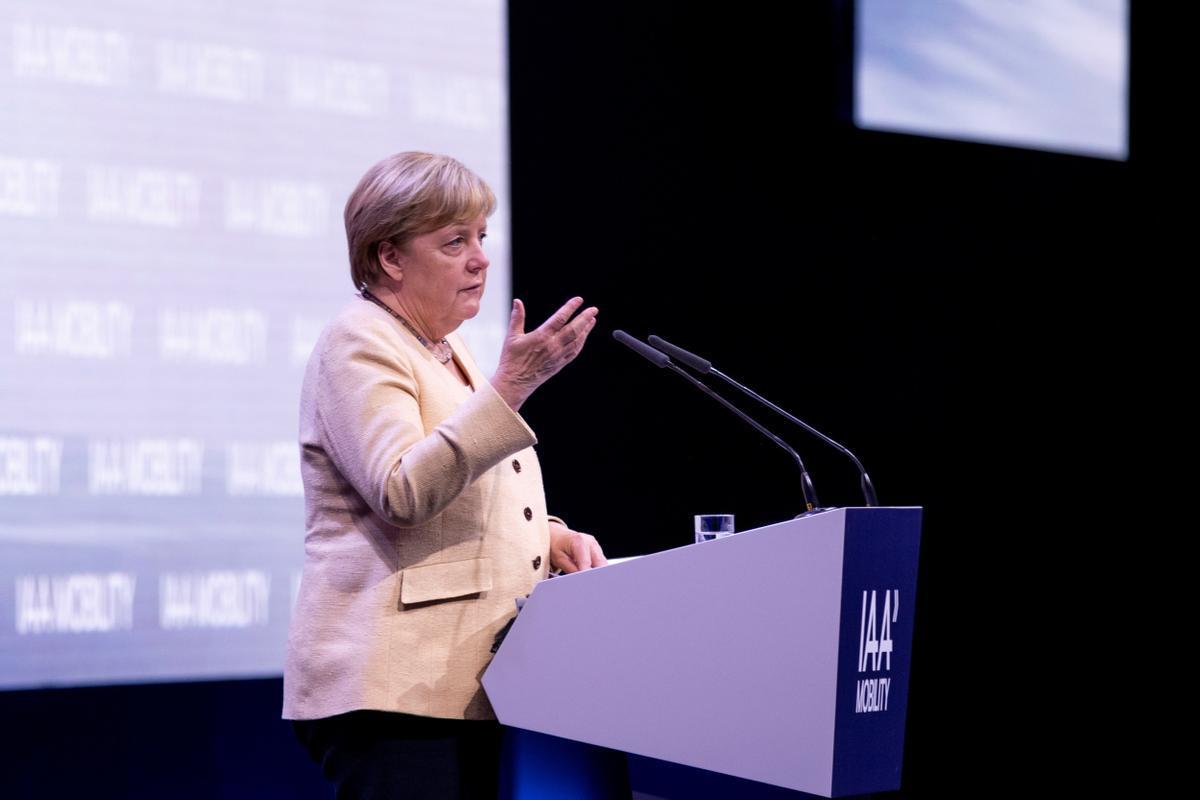 Angela Merkel en una comparecencia.