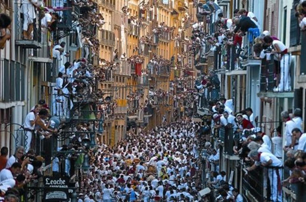 Imagen de la esencia de Pamplona en fiesta.