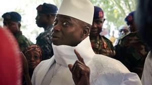 Yahya Jammeh, en el 2016,cuando aún era presidente de Gambia.