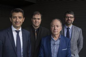 Rafael Doménech, Xavier Muñoz, Javier Martín-Vide y Francisco Espejo.