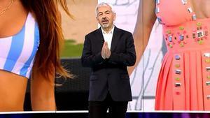 """Carlos Sobera defiende el modelo televisivo de Telecinco: """"Esto en otras cadenas no pasa"""""""