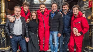 El jurado de 'Masterchef' y algunos de los actores de 'La casa de papel'.