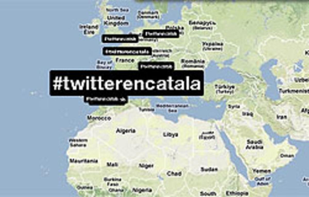 Impacto de #twitterencatala el sábado por la noche.