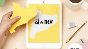 Imagen de la campaña del Govern para fomentar el registro de catalanes en el exterior