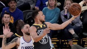 Stephen Curry durante el partido ante Los Ángeles Clippers