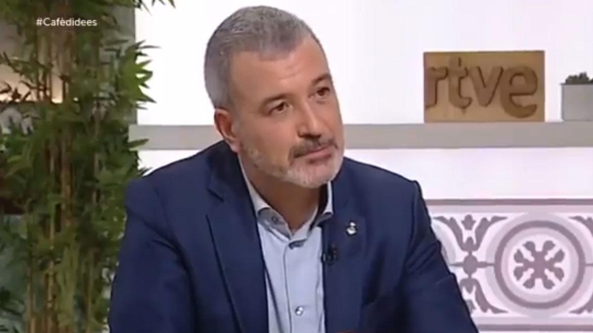 Jaume Collboni en el 'Cafè d'idees'.