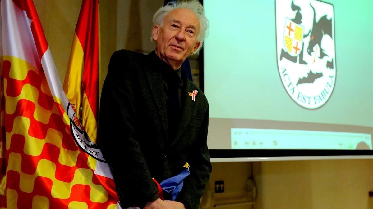 Rueda de prensa del presidente de Tabarnia, Albert Boadella, en el exilio, en Madrid.