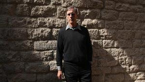 El músico Robert Foster, en el convento de Sant Agustí de Barcelona, este jueves.
