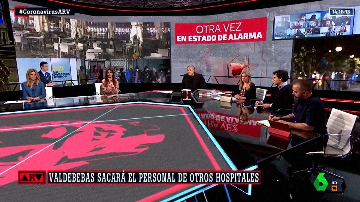 """Ferreras, tras la entrevista de Ayuso en Telemadrid: """"Le preguntaremos por la Champions"""""""