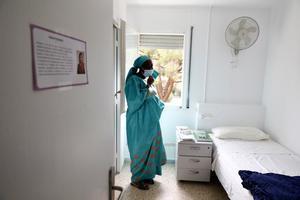 Una de las usuarias del primer centro residencial para mujeres La Llavor