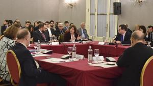 Seminario del CIDOB sobre Rusia, en el Palau de Pedralbes, este sábado 20 de enero.