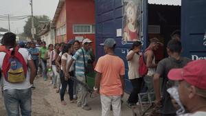 Imagen de archivo de migrantes venezolanos.