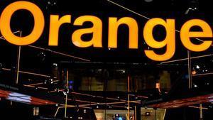 El logo de Orange en el estand de la operadora, en la última edición del Mobile World Congress de Barcelona.