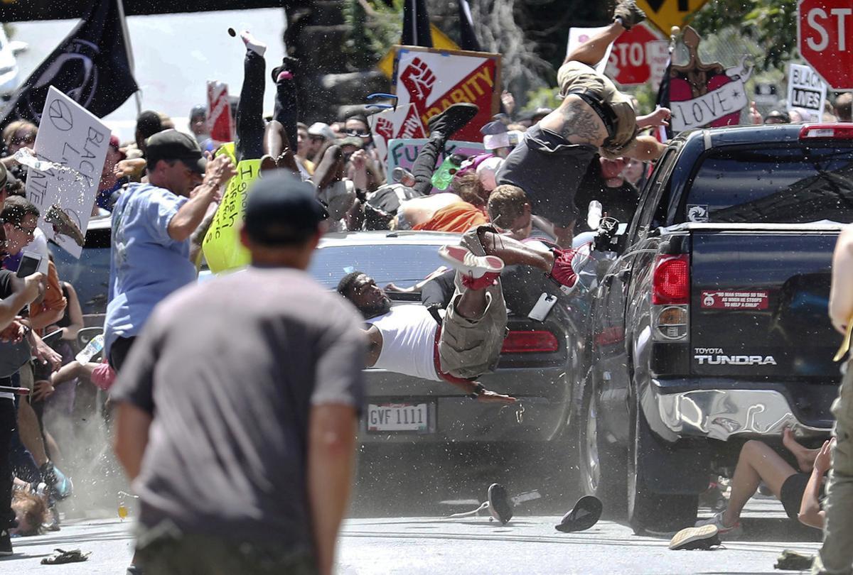 La imagen capta el momento del brutal atropellamiento.