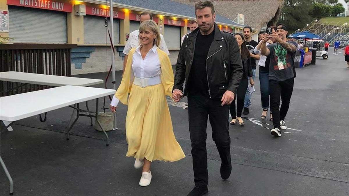 Olivia Newton-John y John Travolta vuelven a vestirse de 'Grease' 41 años después.