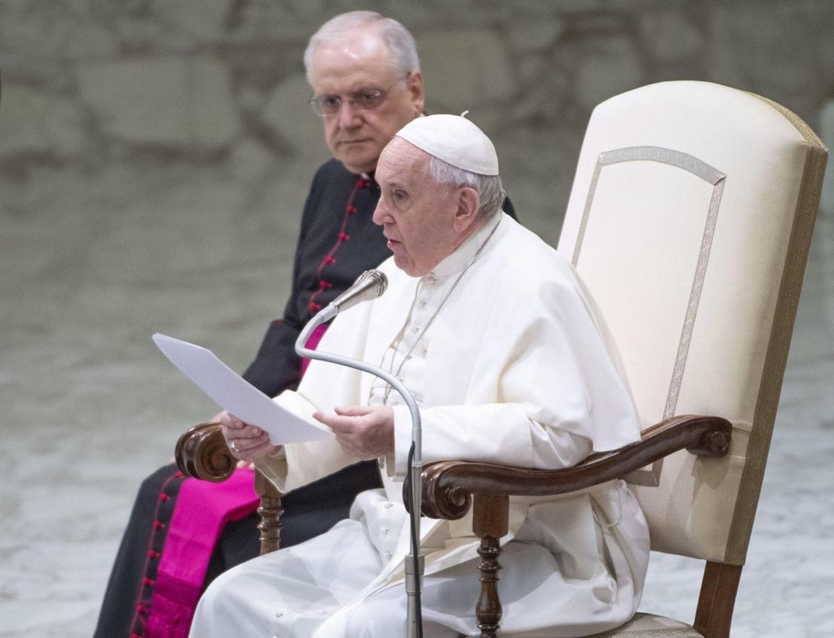 El papa Francisco, en su audiencia semanal, este miércoles en el Vaticano.