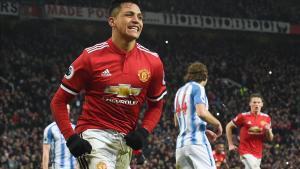 Alexis Sánchez celebra un gol.