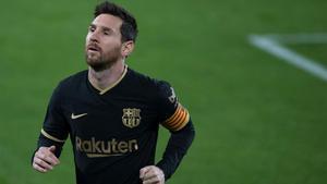 Messi, en el partido ante el Cádiz.
