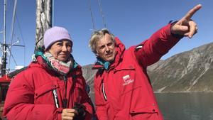 Ana Botín y Jesús Calleja en Groenlandia.