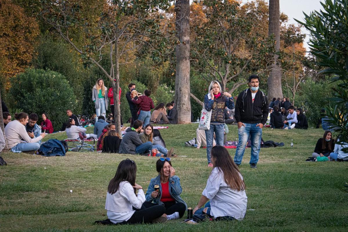 Ambiente en el parque de la Ciutadella, el pasado fin de semana.