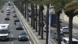 Tráfico en las Rondas y a la salida de Barcelona en la segunda fase de la operación salida de Semana Santa.