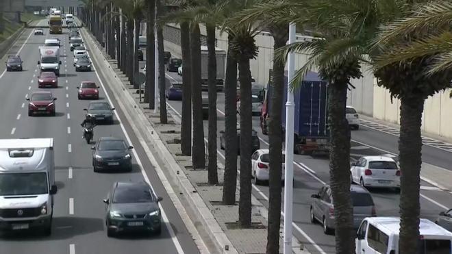 Tráfico en las Rondas y a la salida de Barcelona en la segunda fase de la operación salida de Semana Santa