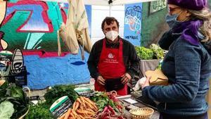 Paradita en el Mercat de la Terra, de Slow Food Barcelona.