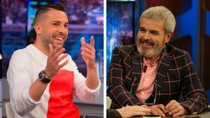 Jordi Alba y Lorenzo Caprile, invitados en 'El Hormiguero: Quédate en casa'.