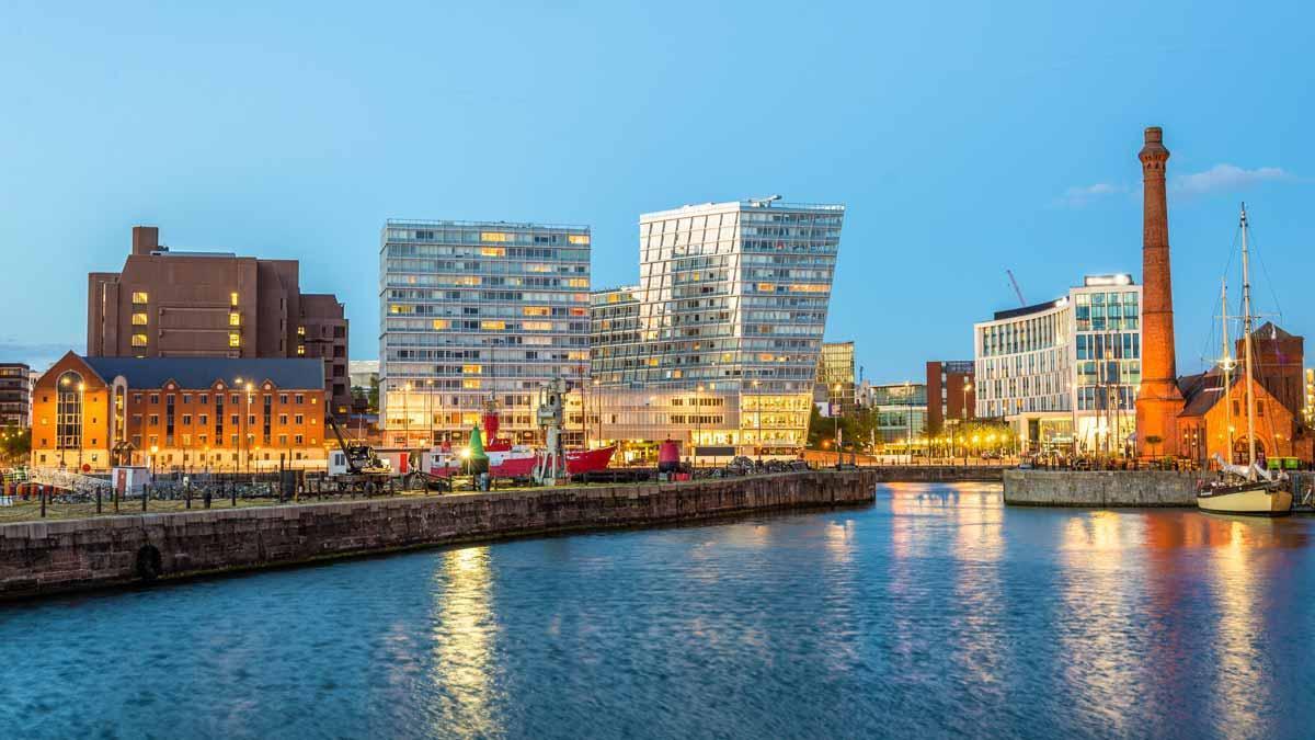 El puerto de Liverpool.