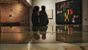 Sala de la exposición 'Miró-ADLAN', en la Fundació del artista catalán.
