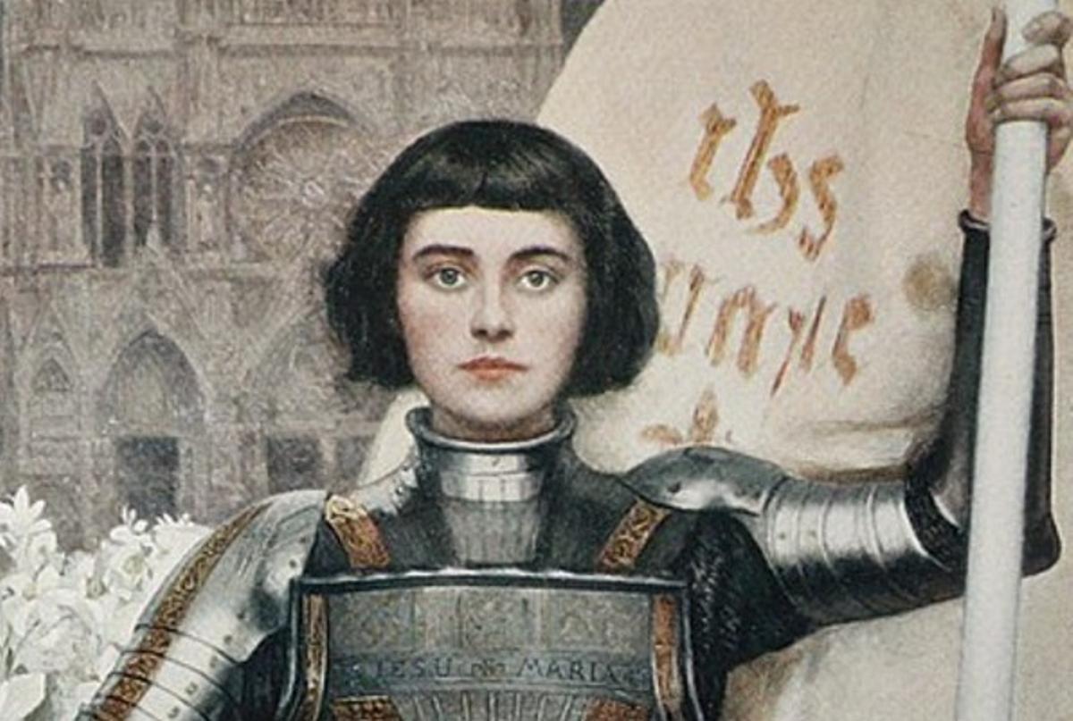 Una recreación de Juana de Arco.