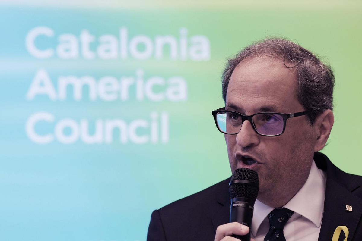 Torra, en la inauguración delCatalonia America Council (CAC), en el Edificio de Asociaciones Mundiales en Washington DC, (EEUU).
