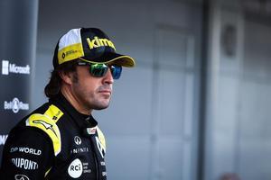Fernando Alonso en su estreno con Renault