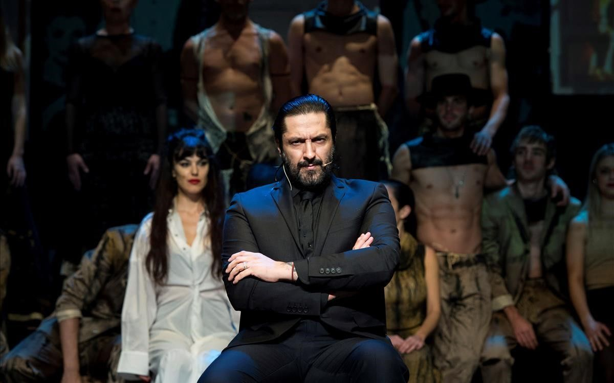 El bailarín Rafael Amargo, durante la rueda de prensa en el TeatroLa Latina.