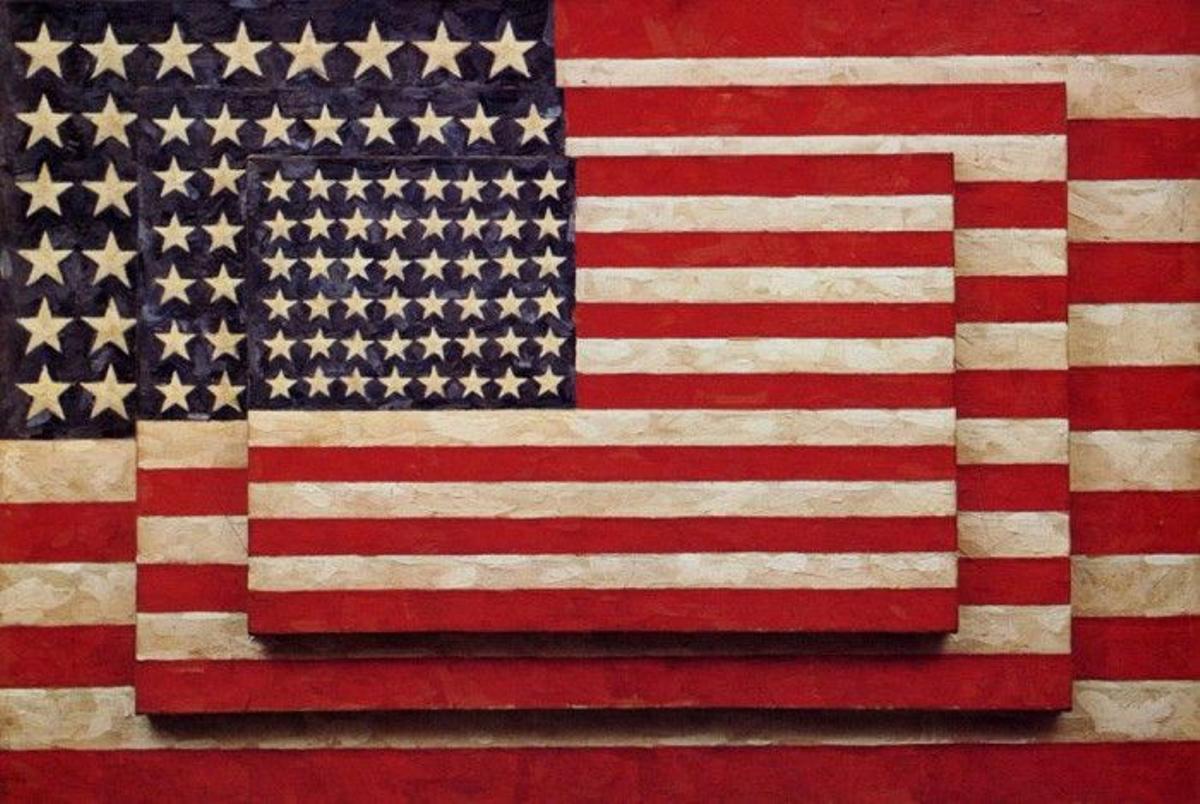 Obre 'Three flags' de Jaspers Johns (1958)