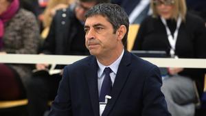 Josep Lluis Traperodurante la primera jornada del juicio en el que se le acusa de rebelión por los hechos ocurridos durante el 1-O