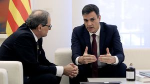 Sánchez y Torra, en la reunión que mantuvieron en la Moncloa en julio del 2018.