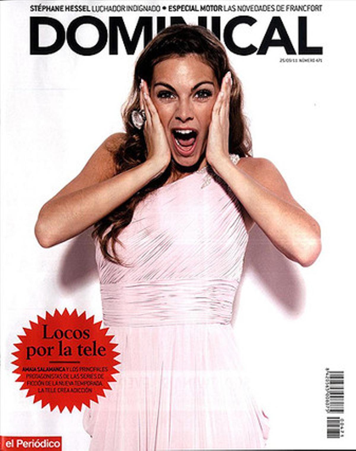 Amaia Salamanca, portada del 'Dominical'.