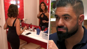 Marina y Alejandro en 'First Dates'.