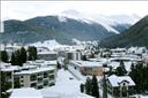 Imagen del centro de congresos de Davos, vacío este año por efecto de la pandemia.