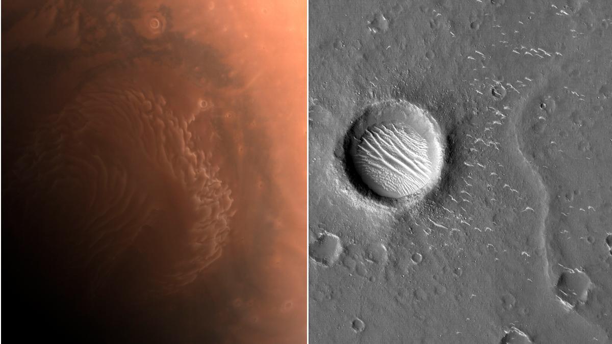 China difunde nuevas imágenes de Marte captadas por su sonda Tianwen-1.