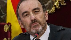 Manuel Marchena, presidente del tribunal, durante una sesión del juicio del 'procés'.