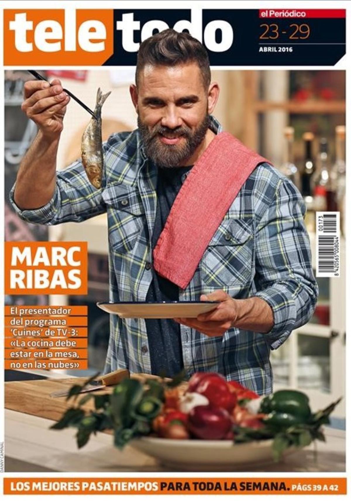 Portada de 'Teletodo' con el 'chef' de 'Cuines' (TV-3) Marc Ribas.
