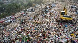 Un vertedero de basura.