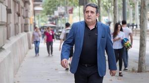 Manuel Bustos, el pasado mes de junio, a su llegada al TSJC
