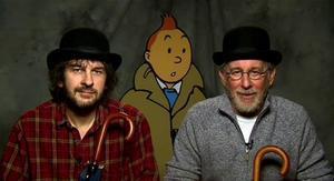 Peter Jackson i Steven Spielberg flanquegen el mític Tintín.