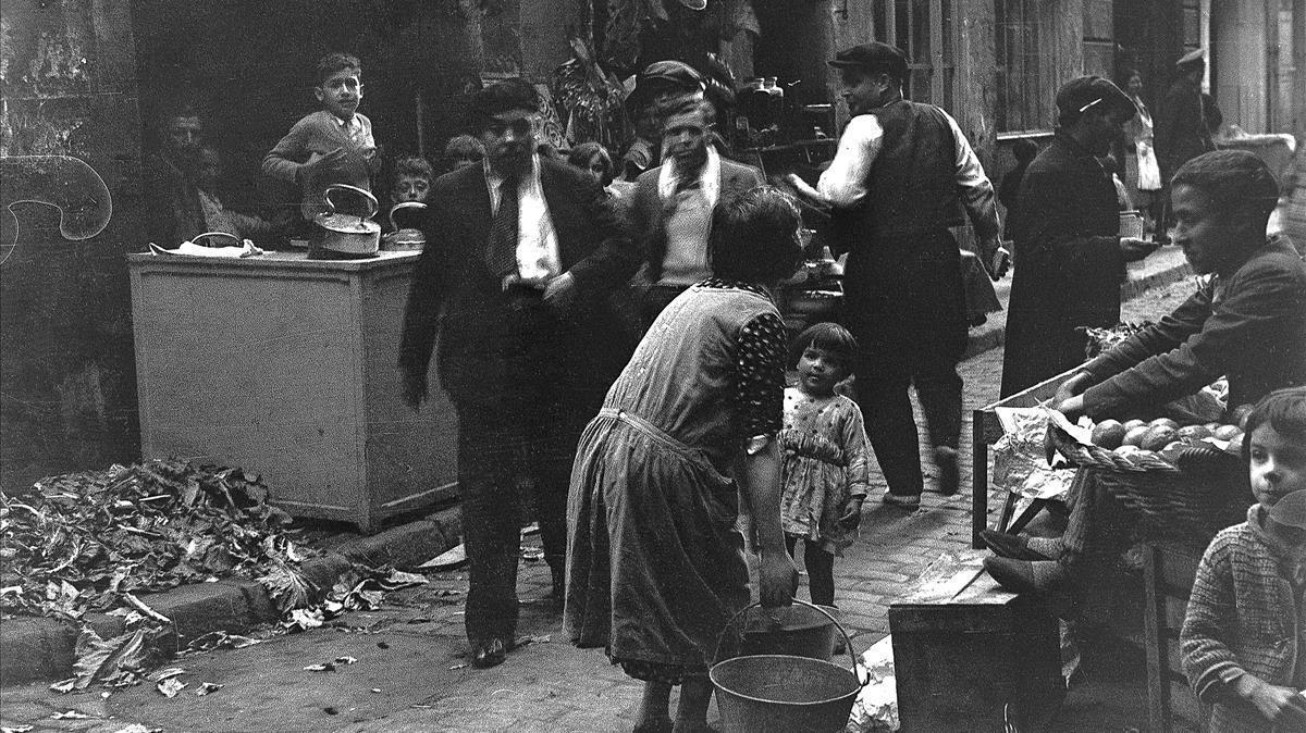 Una parada ambulante del barrio Chino, el 11 de abril de 1934.
