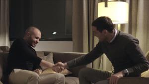 Iniesta y Casillas se reencontraron en enero pasado en Barcelona para grabar el documental de Rakuten TV.